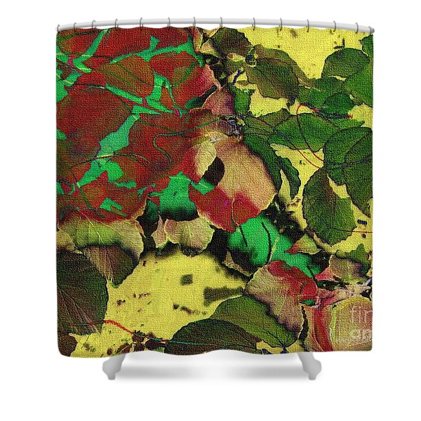 A Scattering Of Leaves Shower Curtain