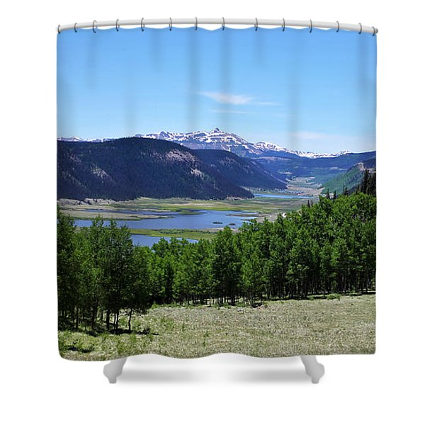 A Scenic View Of The Headwaters Of The Rio Grande River Shower Curtain