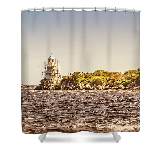 A Seashore Construction Shower Curtain