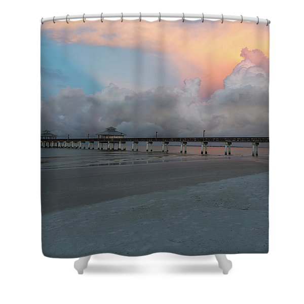 A Serene Morning Shower Curtain