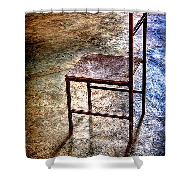 A Simple Chair Shower Curtain