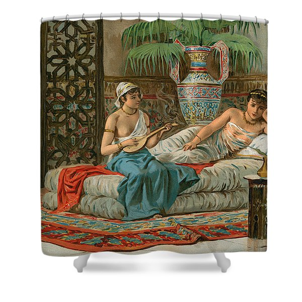 A Slave In The Harem Shower Curtain