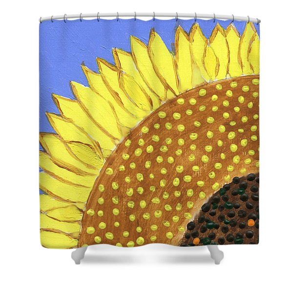 A Slice Of Sunflower Shower Curtain