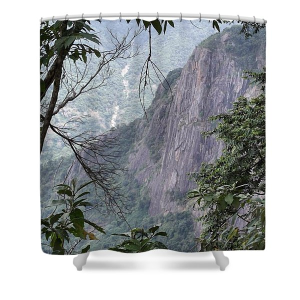 A Small Gap In The Trees Provided This Shower Curtain