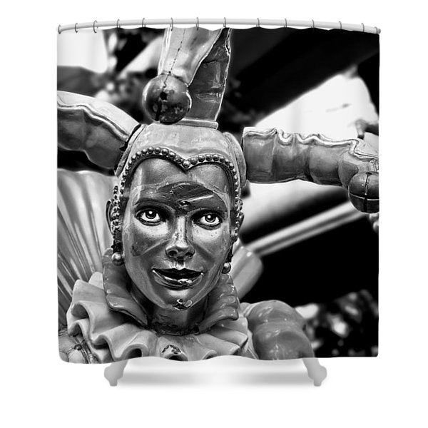A Smile Behind The Scars B-w Shower Curtain by Christopher Holmes