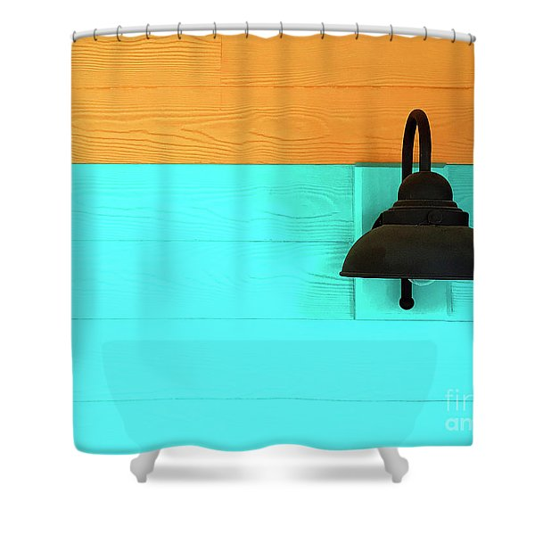 A Solitary Light Shower Curtain