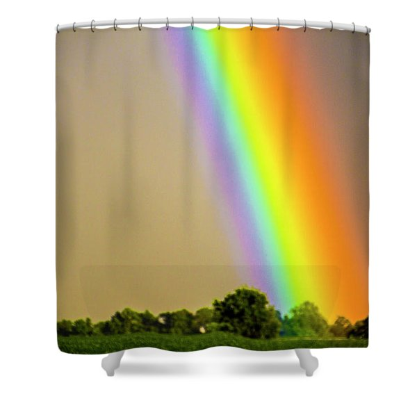 A Spectrum Of Nebraska 002 Shower Curtain