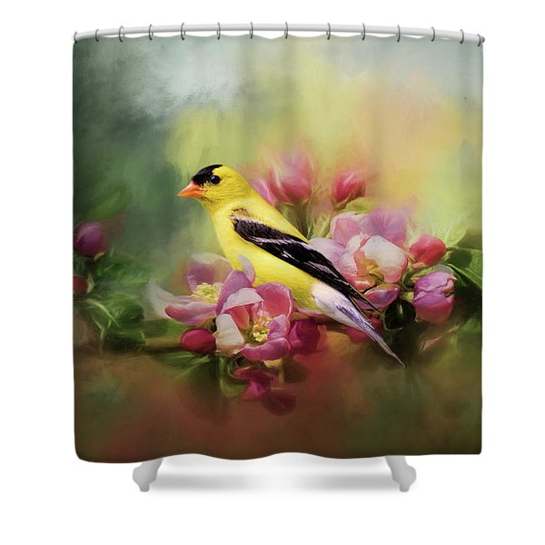 A Splash Of Joy Bird Art Shower Curtain