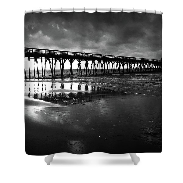 A Storm At Sunrise Shower Curtain