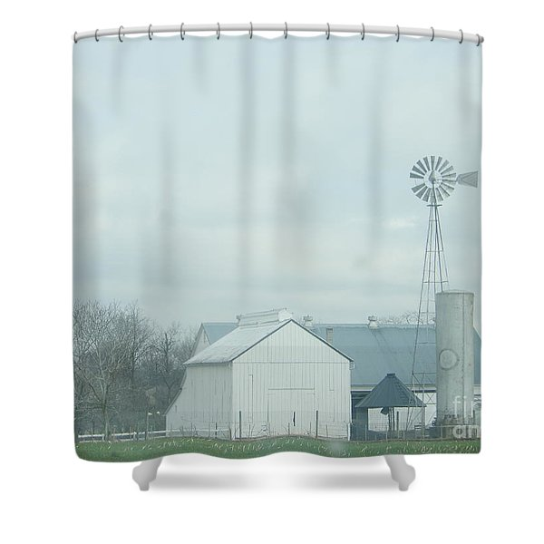 A Storm Moves In Shower Curtain