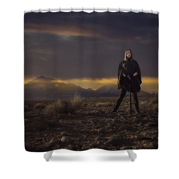 A Storms Brewing Shower Curtain