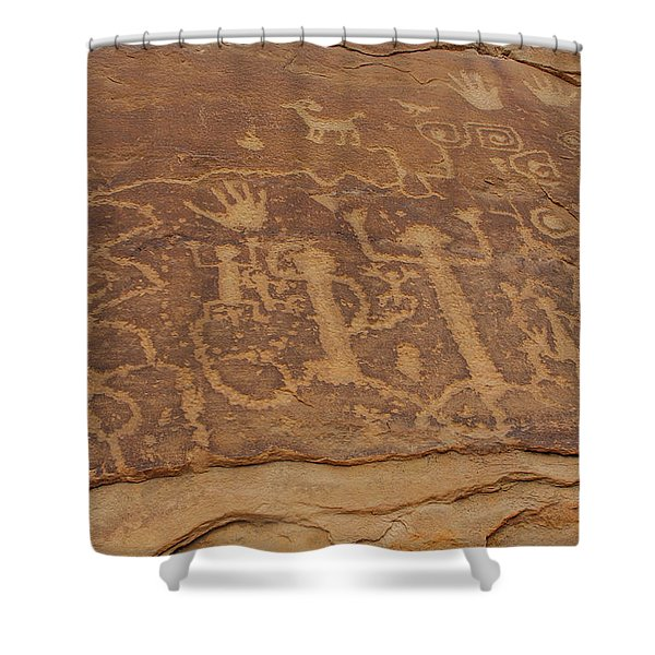 A Story Unfolds Shower Curtain