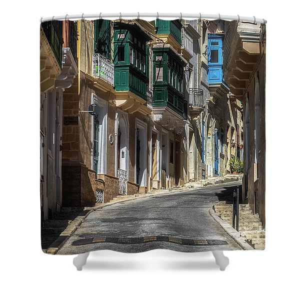 A Street Full Of Colour Shower Curtain