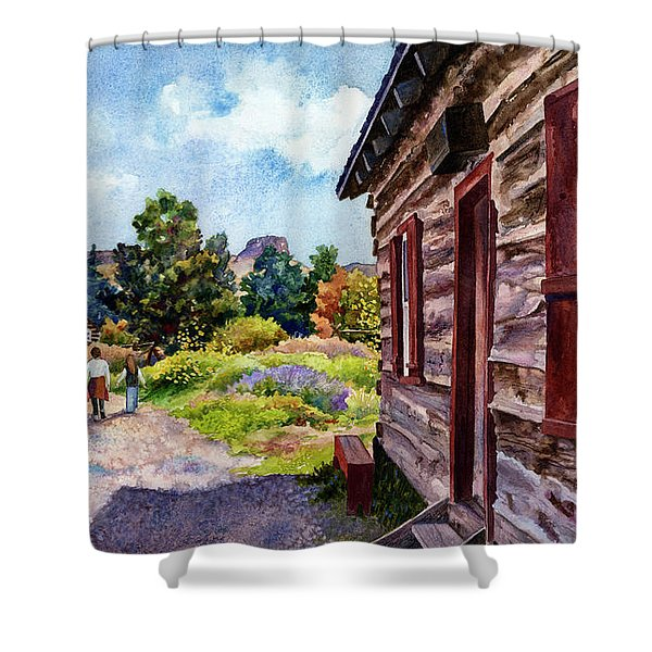 A Stroll Through Time Shower Curtain