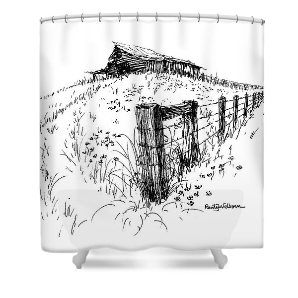 A Strong Fence And Weak Barn Shower Curtain