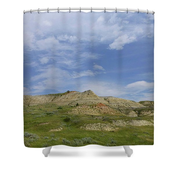 Shower Curtain featuring the photograph A Summer Day In Dakota by Cris Fulton
