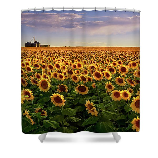 Shower Curtain featuring the photograph A Summer Evening In Rural Colorado by John De Bord