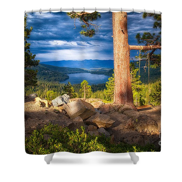 A Swing With A View Shower Curtain