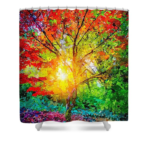 A Tree In Glory Shower Curtain