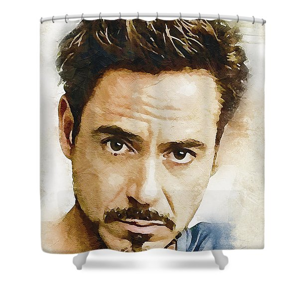 A Tribute To Robert Downey Jr. Shower Curtain