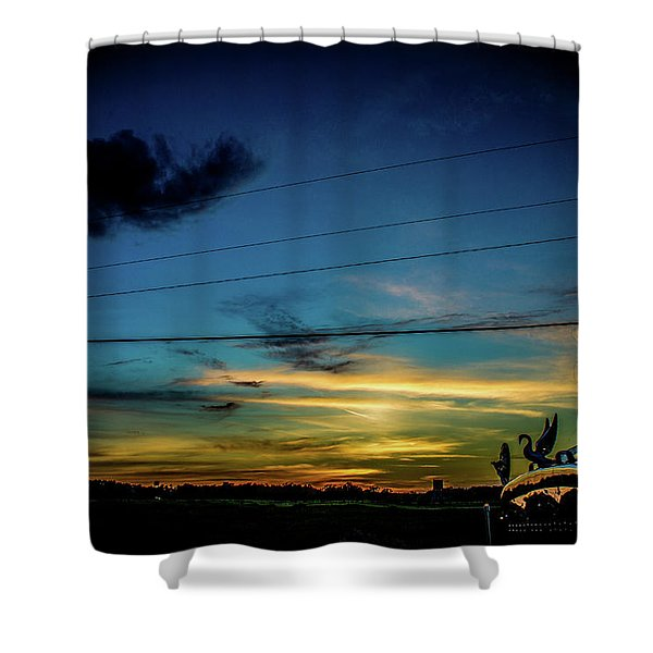 A Trucker's View Shower Curtain