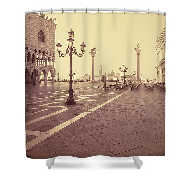 A Venice Morning Shower Curtain
