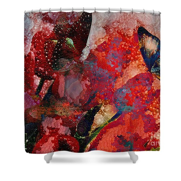 A Very Fairy Tale Of Two Butterflies In Pearlesque Shower Curtain