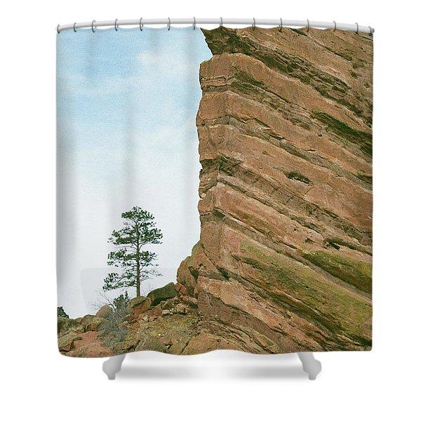 A Very Tall Rock Shower Curtain