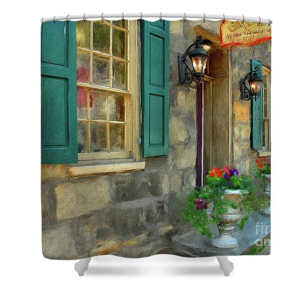 A Victorian Tea Room Shower Curtain