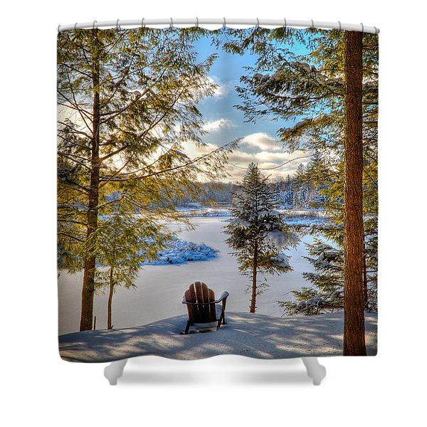A View Of The Moose Shower Curtain