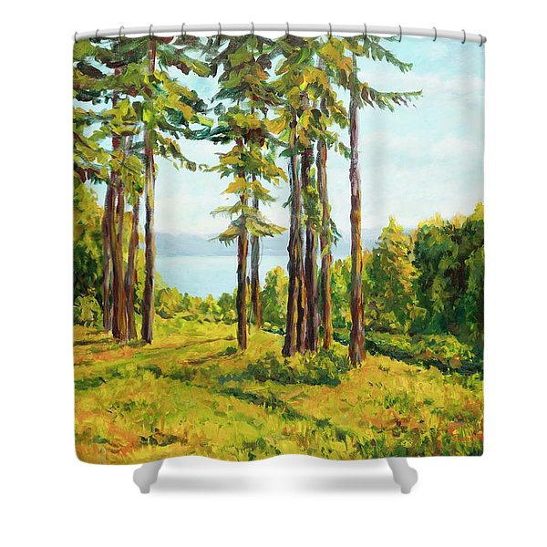 A View To The Lake Shower Curtain
