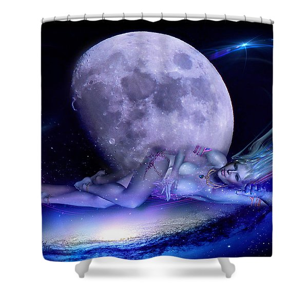 A Visit From Venus Shower Curtain