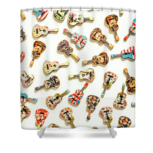 A Visual Play In Music Shower Curtain