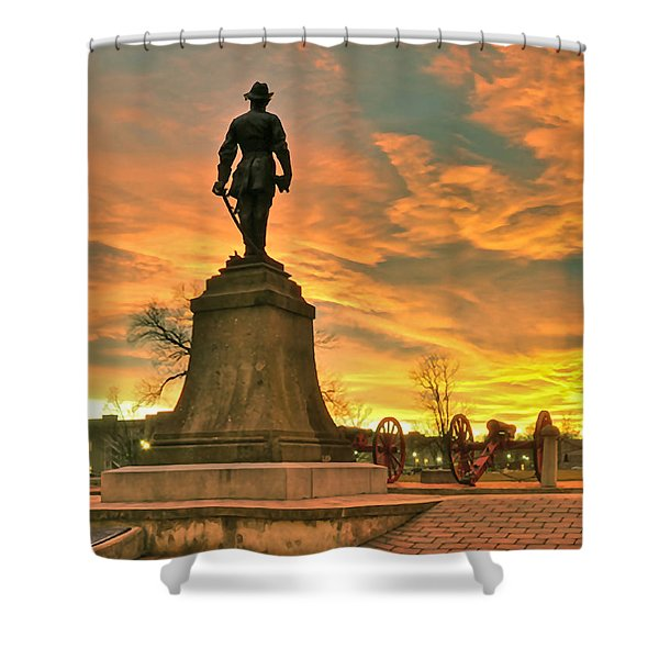 A Vmi Sunset Shower Curtain