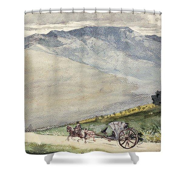 A Volante On A Mountain Road Cuba Shower Curtain