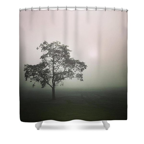 A Walk Through The Clouds #fog #nuneaton Shower Curtain