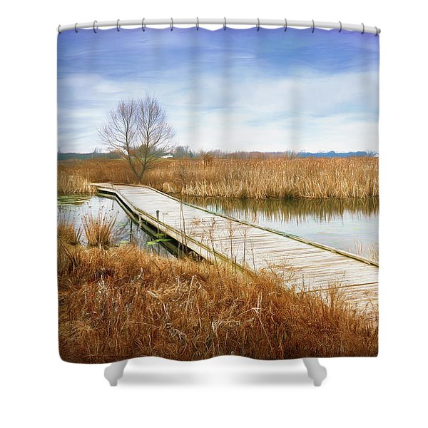 A Warm Day In February Shower Curtain