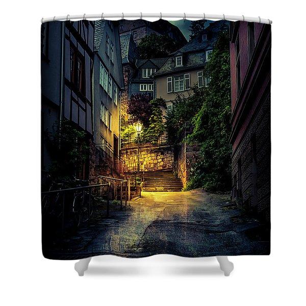 A Wet Evening In Marburg Shower Curtain