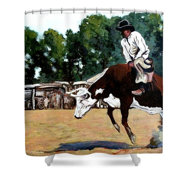 A Whole Lot Of Bull Shower Curtain