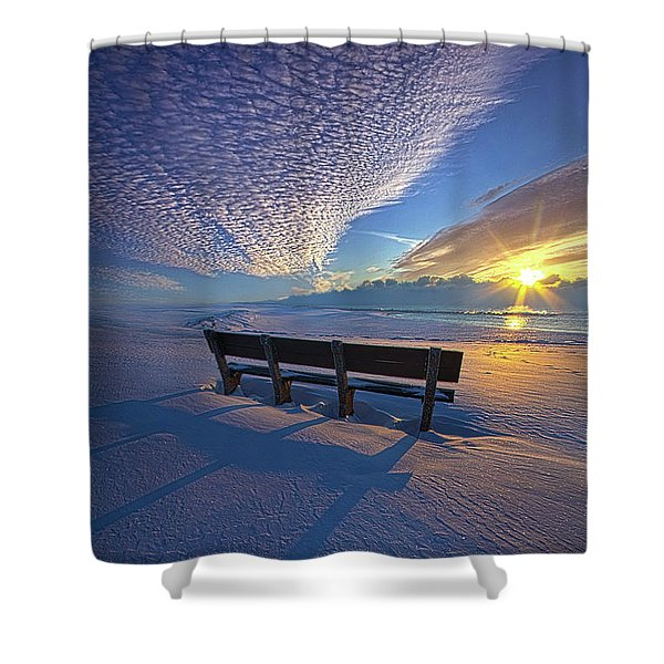 A Whole World In Front Of Us Shower Curtain