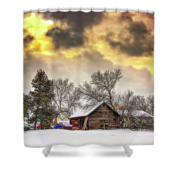 A Winter Sky Shower Curtain
