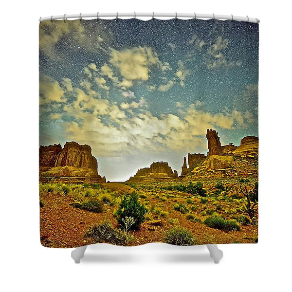 A Wondrous Night Shower Curtain