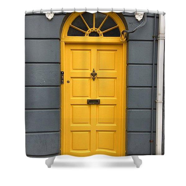 A Yellow Door In Ireland Shower Curtain
