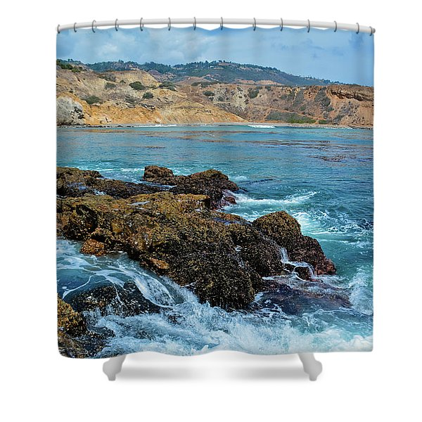 Abalone Cove Shoreline Park Sacred Cove Shower Curtain