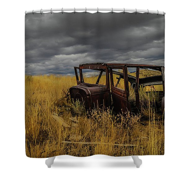 Abandoned Auto Shower Curtain