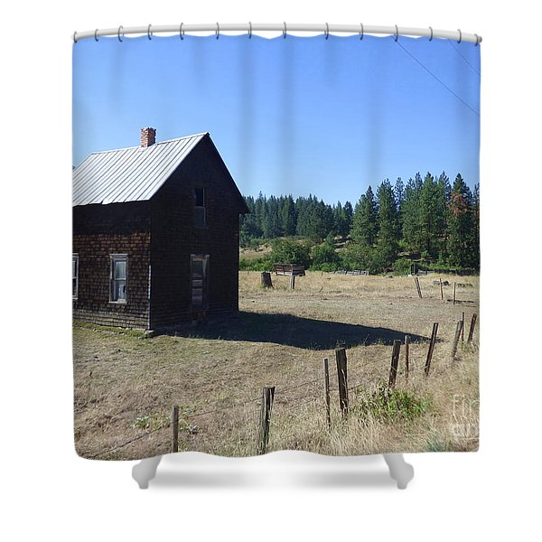 Shower Curtain featuring the photograph Abandoned But Not Forgotten by Charles Robinson
