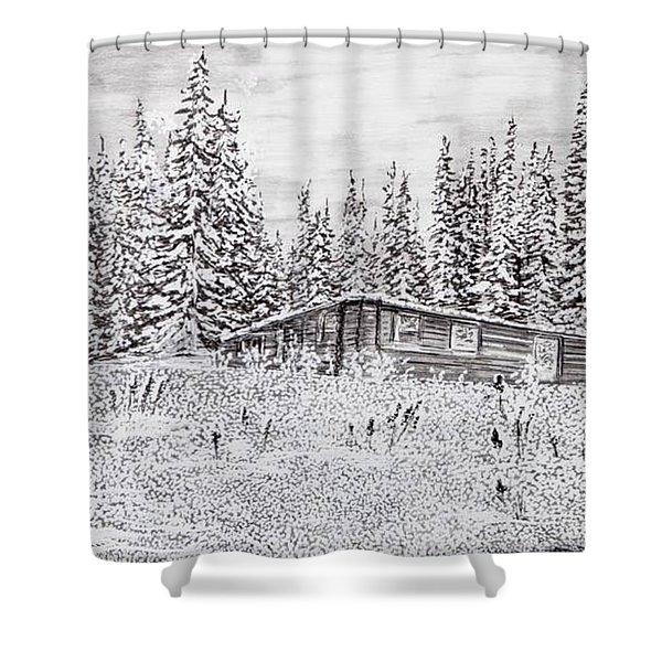 Abandoned Cabin Shower Curtain