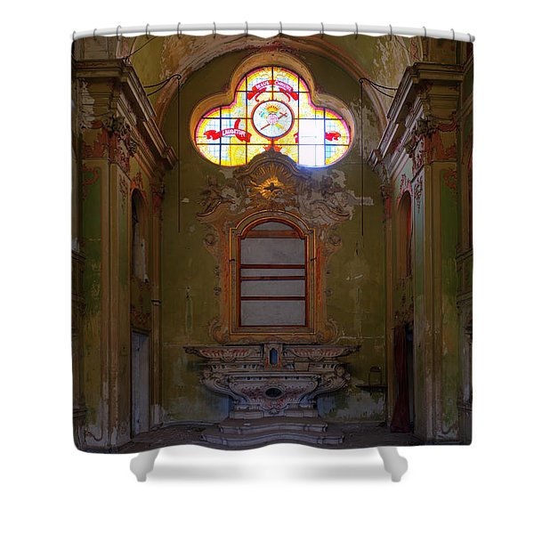 Abandoned Chapel Of An Important Liguria Family I - Cappella Abbandonata Di Famiglia Ligure 1 Shower Curtain