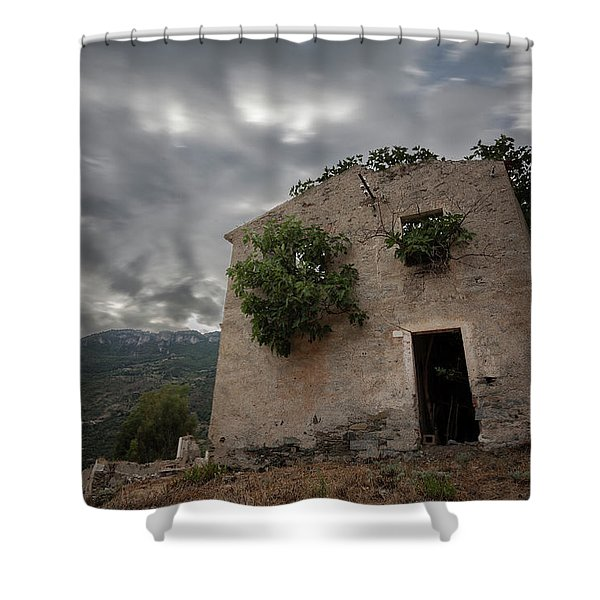 Abandoned Country Shower Curtain
