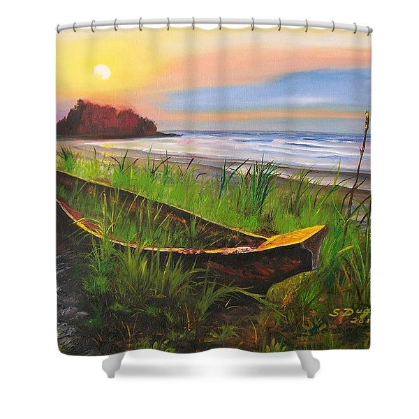 Abandoned Dhow  Shower Curtain